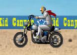 Jeux de cascade en moto